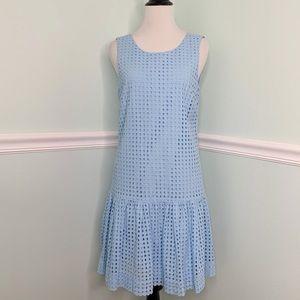 J. Crew Factory   Blue Eyelet Flounce Dress   4